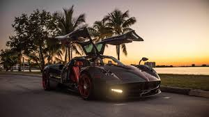 pagani hypercar cruising miami in a custom pagani huayra the drive