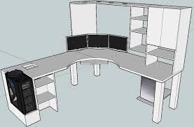 Build Corner Desk Diy by L Shaped Computer Desk Plans L Shaped Desk Plan Desk Design Diy