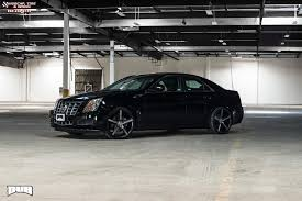 cadillac cts tire size cadillac cts dub lace s119 wheels black machined with tint