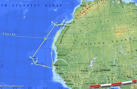 Cabo Verde Map Voyages In The North Atlantic Ocean