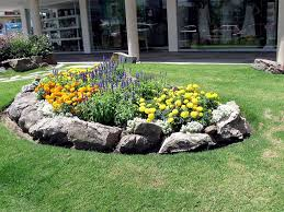 front yard landscaping with river rocks rock garden design tips 15