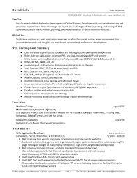 Junior Net Developer Resume Sample by Resume Web Developer Resume