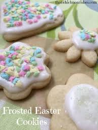 easter cookies frosted easter cookies that which nourishes