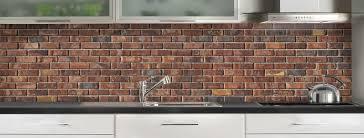 cuisine en brique crédence de cuisine briques anciennes rouges c macredence com