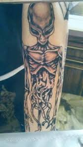 13 grey alien tattoos images