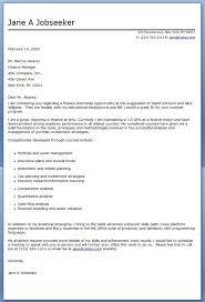application letter for internship finance
