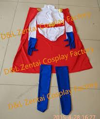 Red White Blue Halloween Costumes Dhl Halloween Cosplay Zentai Costume Power Costume White
