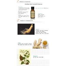 genuine andrea hair loss prevention hair growth nutrition