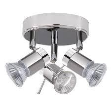 Bathroom Led Lights Ceiling Lights by Aries Ip44 Chrome U0026 Satin Silver 3 Light Spotlight Light
