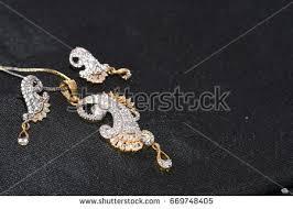 fancy jewellery pendant ear rings closeup stock photo 669748417