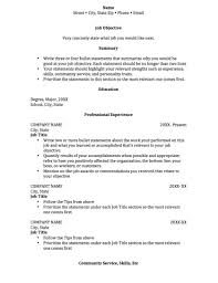 college internship resume template jospar