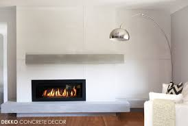 engineered lightweight concrete around linear gas fireplace