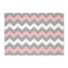 pink and gray chevron stripes 5 u0027x7 u0027area rug grey chevron