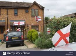 Decorated Home by English Flag Flags Decorated House Car Football World Cup