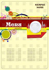 restaurant menu template spain cuisine royalty free vector clip