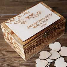 Customized Keepsake Box Alternative Wedding Guest Book Custom Rustic Wedding Recipe Box