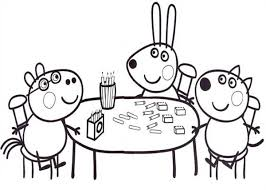 free coloring pages peppa pig picnic 7661 bestofcoloring