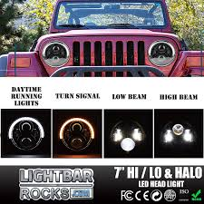 jeep accessories lights 40w hi low beam motor cars led head lamp accessories halo ring drl