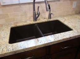 Composite Countertops Kitchen - kitchen with granite countertops and composite sink durable