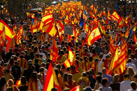 Barcelona Spain Flag Spanish Unionists Find Their Voice In Huge Barcelona Rally News 1130