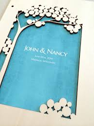 modern wedding guest book woodcut wedding guest book album white tree of with
