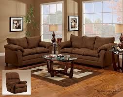 Microfiber Living Room Set 1150 Flat Suede Chocolate By Washington Furniture Adcock