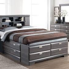 queen platform storage bed with bookcase headboard best 25 ideas