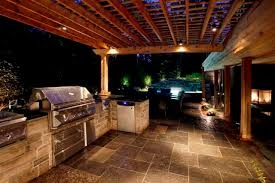 bbq server and eating area