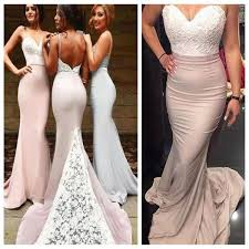 cheap bridesmaid dresses backless mermaid prom bridesmaid dresses spaghetti straps