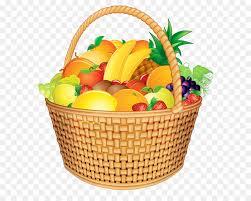 fruit gift basket basket of fruit gift basket clip fruit basket png vector