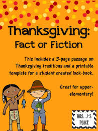 thanksgiving fact or fiction lockbook by mrs j s place tpt