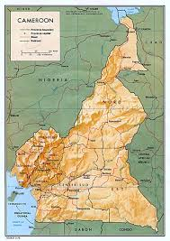 map of cameroon cameroon maps perry castañeda map collection ut library