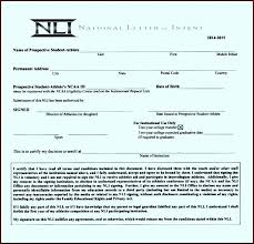 College National Letter Of Intent College Football National Letter Of Intent For Students