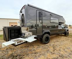 ford earthroamer let this beastly backcountry camper from earthroamer take you to
