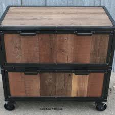 Wooden Lateral File Cabinets Mesmerizing Reclaimed Wood Lateral File Cabinet Images Inspiration