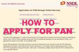 how to apply online pan card application form skyrightway