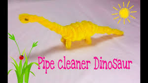 pipe cleaner crafts dinosaur brontosaurus youtube