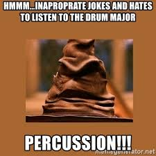 Drum Major Meme - hmmm inaproprate jokes and hates to listen to the drum major