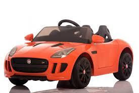 jaguar official f type licensed 12v kids electric ride on car orange