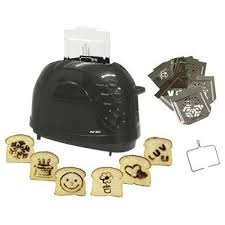 Coolest Toaster Pop Art Toaster Brand Images Onto Your Toast The Green Head