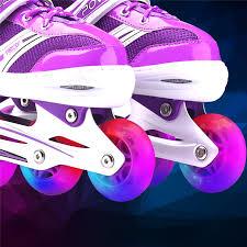 roller skates with flashing lights 1pc flashing light roller skating wheels inline sliding flash pu