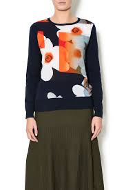 yal ny floral print sweater from new york by maya u0027s place u2014 shoptiques