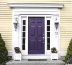 Navy Blue Front Door How To Choose A Front Door Paint Colour Purple Door Doors And