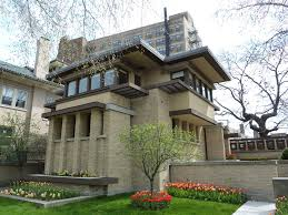 Frank Lloyd Wright Prairie Home by Emil Bach House Buildings Of Chicago Chicago Architecture