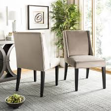 safavieh en vogue dining humphry mushroom taupe dining chairs set
