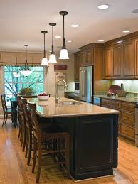 kitchen room elegant wooden kitchen island dining table kitchen