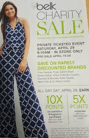 belk charity sale the of