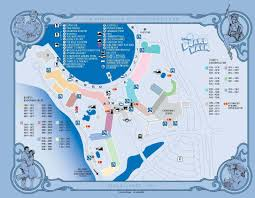 Map Walking Distance Disney Deluxe Resorts Small Earth Travel