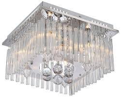 Wohnzimmer Lampe Bubble Kristall Deckenleuchte Mit Kristallbehang Von Globo Saasil