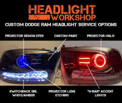 Custom Car Lights 2013 Dodge Ram Projector Headlights Custom Led Retrofit Service